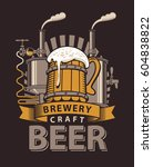 vector logo for a pub or a... | Shutterstock .eps vector #604838822