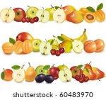 three fruit design borders... | Shutterstock .eps vector #60483970