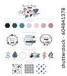branding design  kit. logo... | Shutterstock .eps vector #604841378