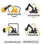 Excavator Vector Logo Set...