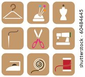 tailor icons | Shutterstock .eps vector #60484645