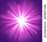 purple glowing light. bright... | Shutterstock .eps vector #604847186