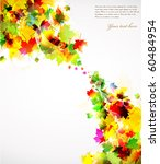 colorful autumn design   Shutterstock .eps vector #60484954