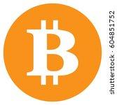 money bitcoin sign icon. flat...