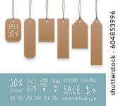 collection of hanging tags with ...