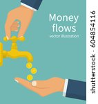money flows  concept. vector... | Shutterstock .eps vector #604854116