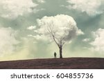clouds over the tree | Shutterstock . vector #604855736