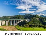 rice field landscape and arch... | Shutterstock . vector #604857266