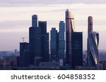 frame with high rise houses and ... | Shutterstock . vector #604858352