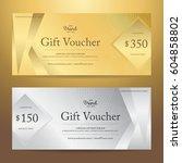 elegant gift voucher or gift... | Shutterstock .eps vector #604858802