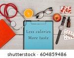 medecine concept   clipboard... | Shutterstock . vector #604859486