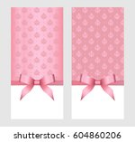 gift card template with pink ... | Shutterstock .eps vector #604860206