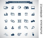seo and development icon set | Shutterstock .eps vector #604864412