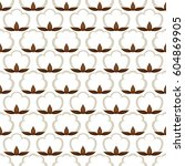 seamless pattern with cotton... | Shutterstock .eps vector #604869905