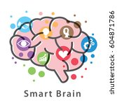 smart brain symbol icon design... | Shutterstock .eps vector #604871786