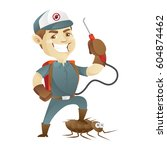 pest control service killing... | Shutterstock .eps vector #604874462