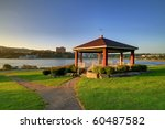 Bandstand in the park. - stock photo