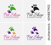 pet shop logo design icons | Shutterstock .eps vector #604887902