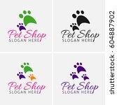 pet shop logo design icons | Shutterstock .eps vector #604887902