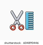 linear icon of craft... | Shutterstock .eps vector #604890446