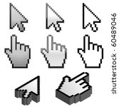 cursor pointer collection in... | Shutterstock .eps vector #60489046
