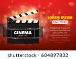 online cinema background with... | Shutterstock .eps vector #604897832