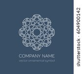 geometric logo template. vector ... | Shutterstock .eps vector #604900142