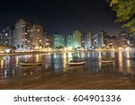 guaruja  asturias beach at... | Shutterstock . vector #604901336