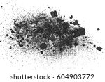 Pile Black Coal Isolated On...