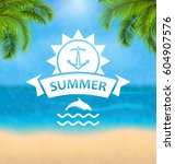 illustration summer template of ...   Shutterstock .eps vector #604907576
