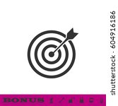 target bullseye arrow icon flat.... | Shutterstock .eps vector #604916186