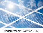 Solar Panel With Blue Sky....