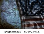 usa flag vintage background | Shutterstock . vector #604924916