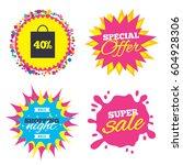 sale splash banner  special... | Shutterstock .eps vector #604928306