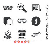 prayer room icons. religion... | Shutterstock .eps vector #604932512