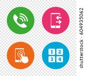 phone icons. touch screen... | Shutterstock .eps vector #604935062