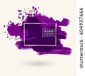 purple color ink spots  white... | Shutterstock .eps vector #604937666