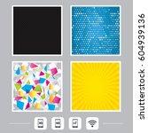 carbon fiber texture. yellow... | Shutterstock .eps vector #604939136