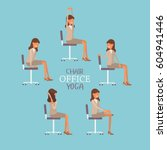 vector illustration with office ... | Shutterstock .eps vector #604941446