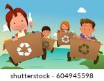 a vector illustration of group... | Shutterstock .eps vector #604945598