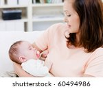 sleeping innocence little baby... | Shutterstock . vector #60494986
