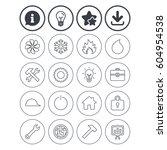 information  light bulb and... | Shutterstock .eps vector #604954538