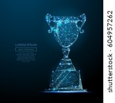 abstract image of a champion... | Shutterstock .eps vector #604957262