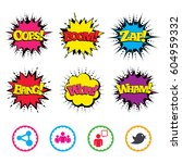 comic wow  oops  boom and wham... | Shutterstock .eps vector #604959332