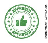 approved rubber stamp vector... | Shutterstock .eps vector #604965005