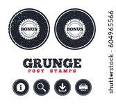 grunge post stamps. bonus sign...