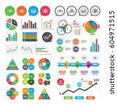 business charts. growth graph....   Shutterstock .eps vector #604971515