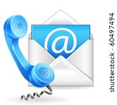 vector contact us icon | Shutterstock .eps vector #60497494
