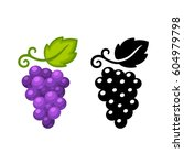 grape vine vector icon in black ... | Shutterstock .eps vector #604979798