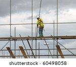 closeup of construction worker...